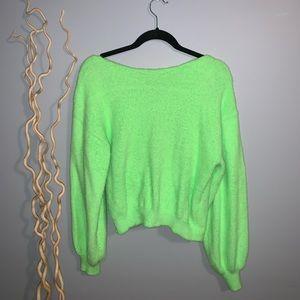 Neon Green Twist Sweater ⚡️